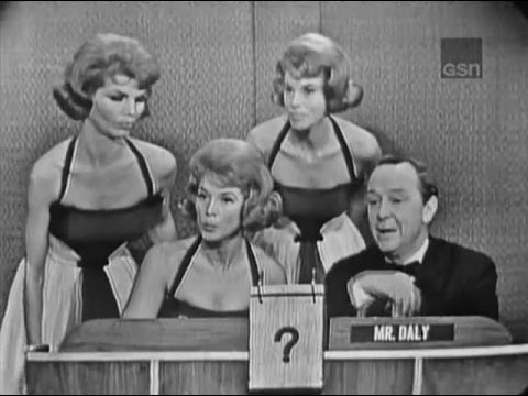 What's My Line? - The McGuire Sisters; Merv Griffin [panel] (Apr 8, 1962)