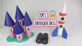 Como fazer brinquedos incríveis com rolo de papel (foguete, castelo e binóculo) #2. Por Pricity