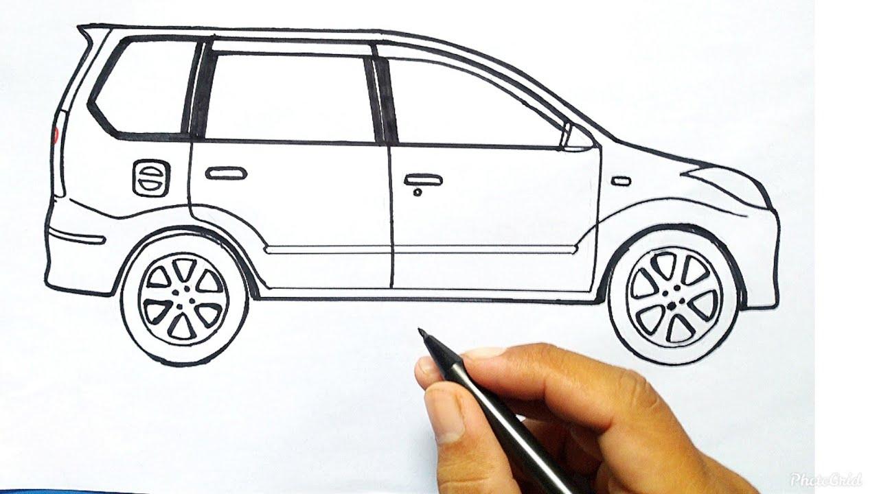 Menggambar Mobil Cara Menggambar Mobil Avanza Dan Mewarnai Dengan Mudah Gambar Mobil Dn Youtube