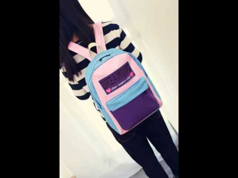 Clean embroidery alphabet matching backpack.avi