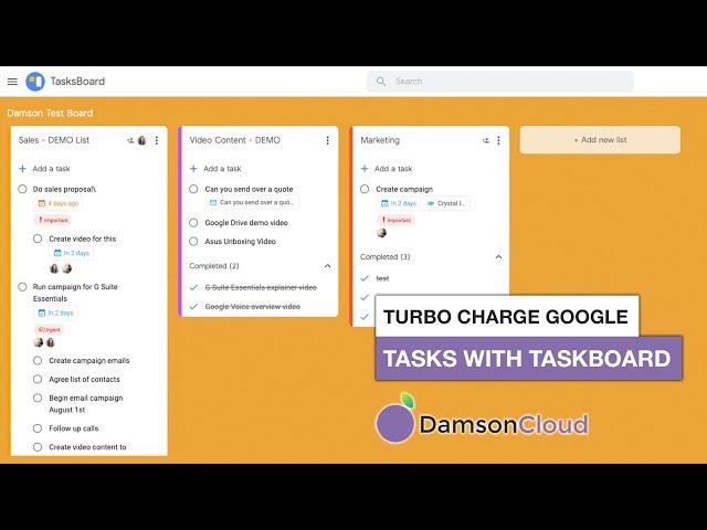 Turbocharge Google Tasks with Tasksboard!
