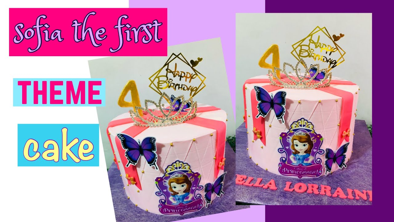 Download how to make sofia the first theme cake|| sofia the first cake tutorial