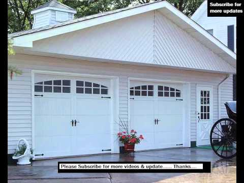 Carriage Garage Door Designs  Carriage House Garage Doors Pics  YouTube