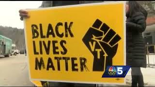 Montpelier High School students raise Black Lives Matter flag