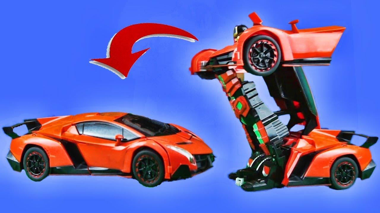Lamborghini Transformer Rc Car 24 Ghz Radio Controller Mainan Tobot Mini Maianan Robot Bisa Jadi Mobil Transform Remote Kontrol