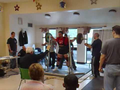 Tom Chantler 250kg 1st Squat  GBPF South Midlands 2009