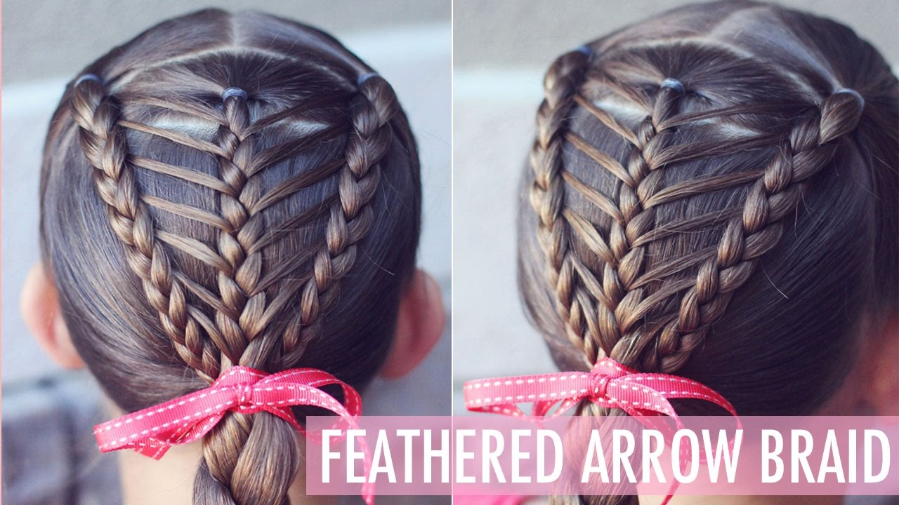 How To: Feathered Arrow Braid  Easier Than It Looks!!  Brown Haired Bliss