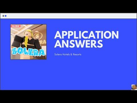 Nova Hotels Application Answers 2020 Roblox Youtube