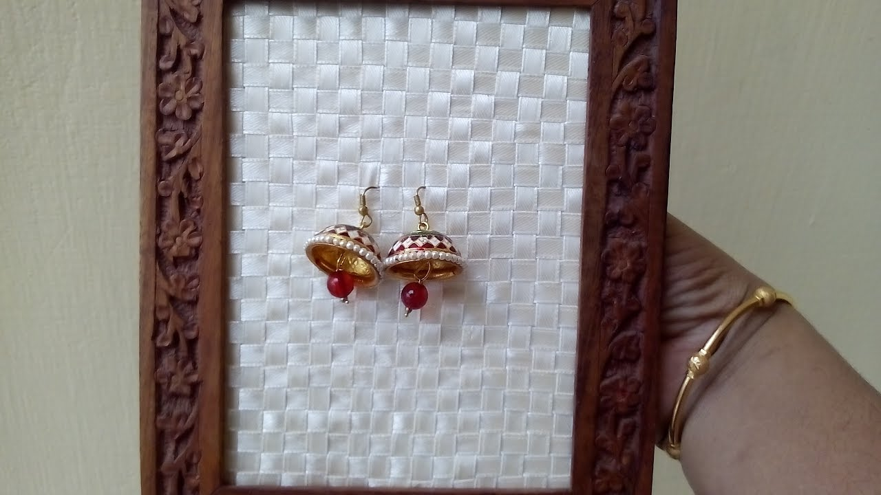 Diy Earring Organizer Simple Craft English Subtitles