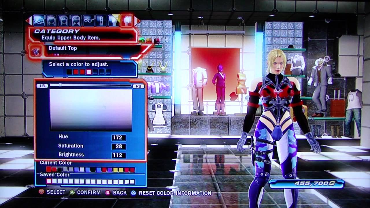 Tekken Tag Tournament 2 Nina Character Customization Youtube