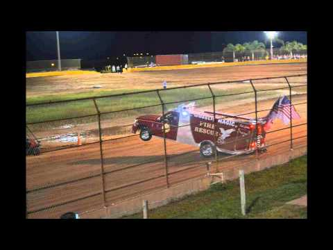 hendry county speedway dirt oval latmodle racing and the wheel standing firetruck