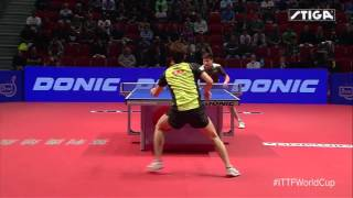 Table Tennis 2015 World Cup Jun Mizutani - Dimitrij Ovtcharov beautiful point