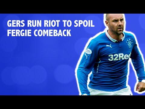 Blistering Rangers run riot to spoil Fergie comeback
