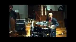 Billy Drummond Quartet: Mulgrew Miller (piano), Francois Moutin (bass) and Tim Ries (saxophone).