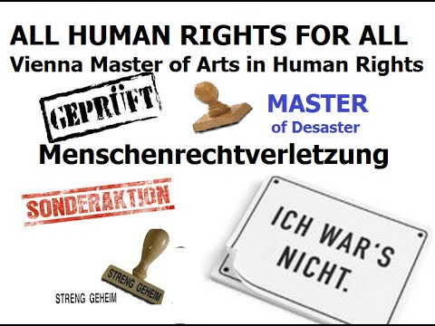 Master of Arts in Human Rights for Master of Desaster