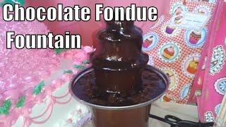 fondue mini chocolate fountain brown lazada review