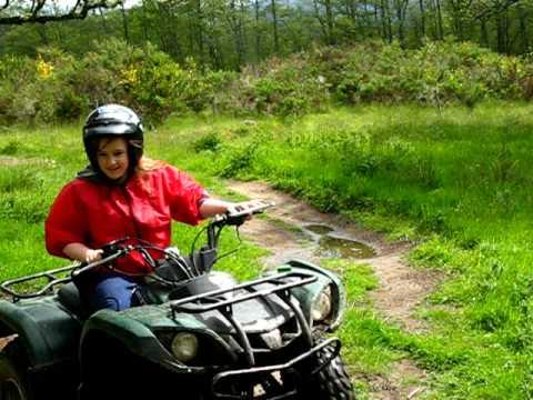 Quad Biking on 125cc Yamaha ATV's in the Cairngorm Mountains, Aviemore,  Scotland