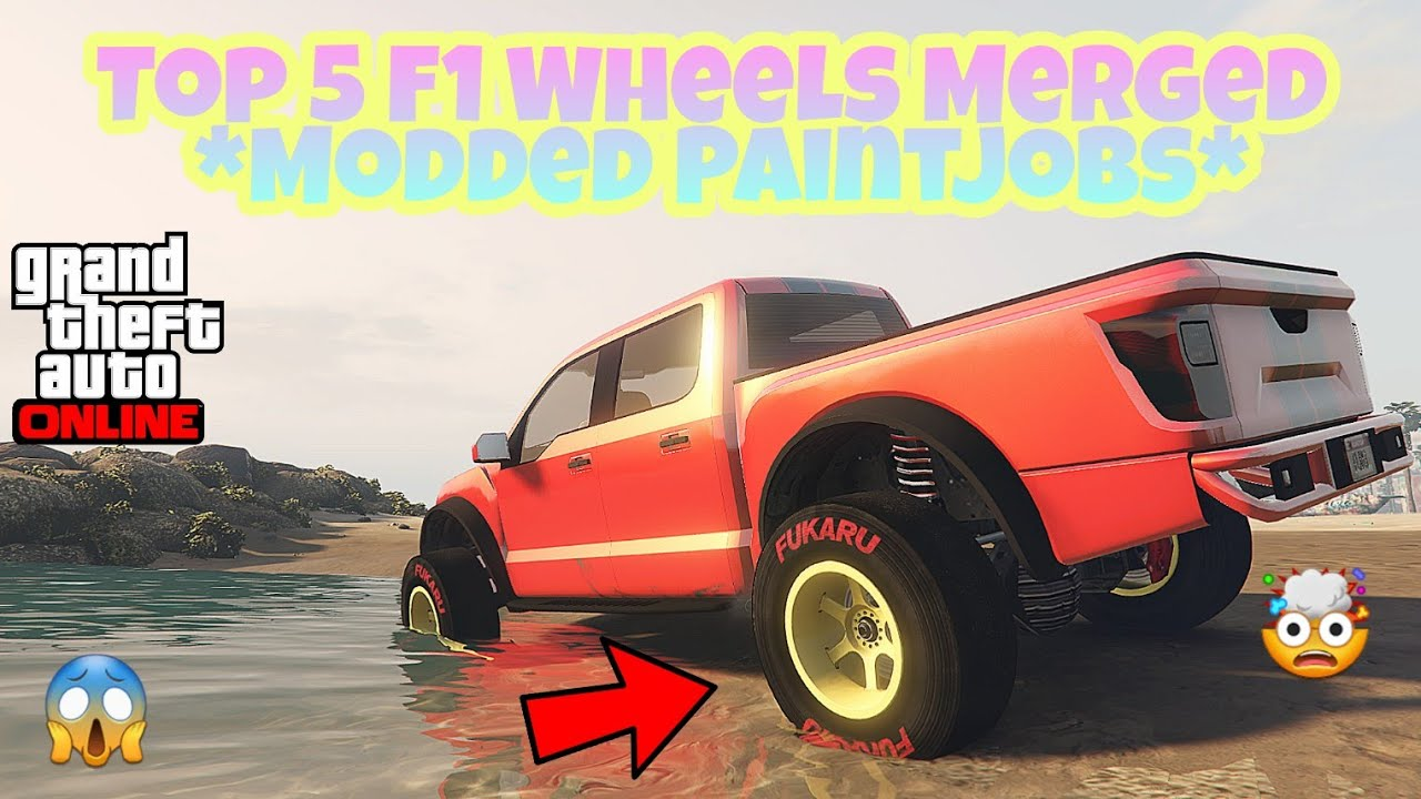 Gta 5 Online Top 5 F1 Wheels Modded Paintjobs Combinations Part1 Youtube