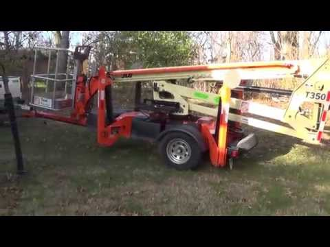 How to operate a JLG T350 man lift