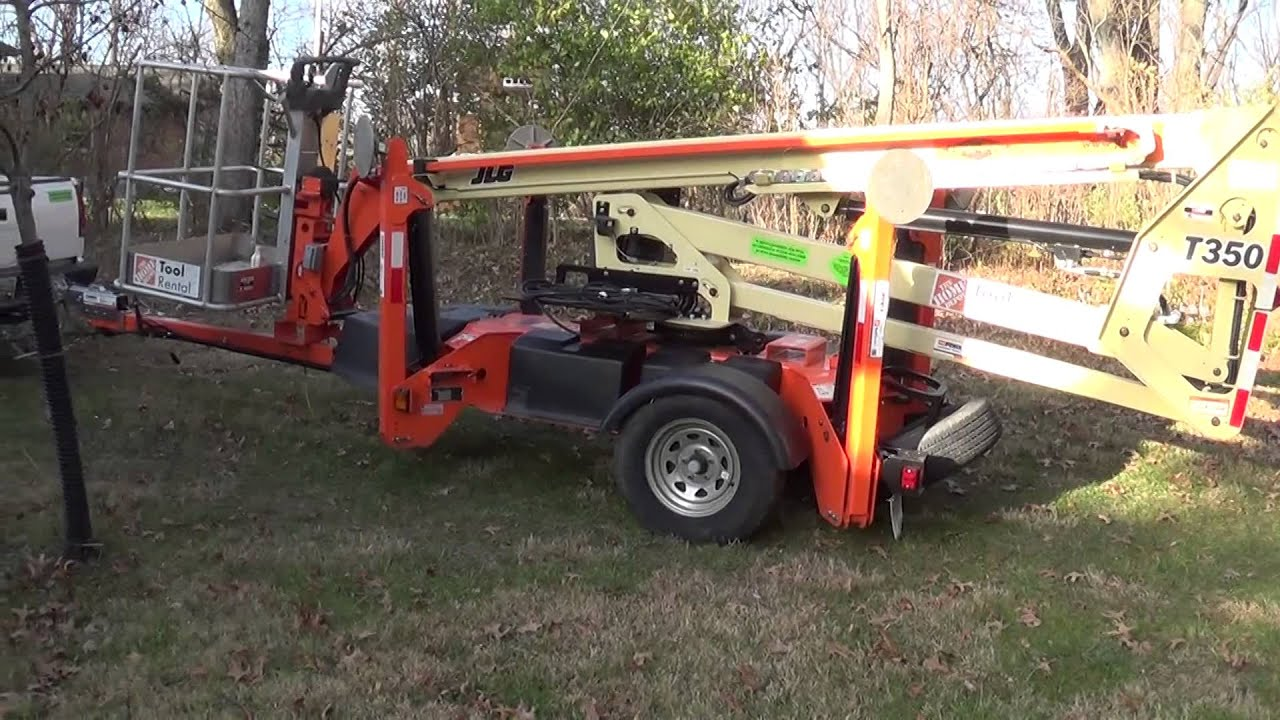 How to operate a JLG T350 man lift - YouTube Nifty Lift Wiring Diagram on
