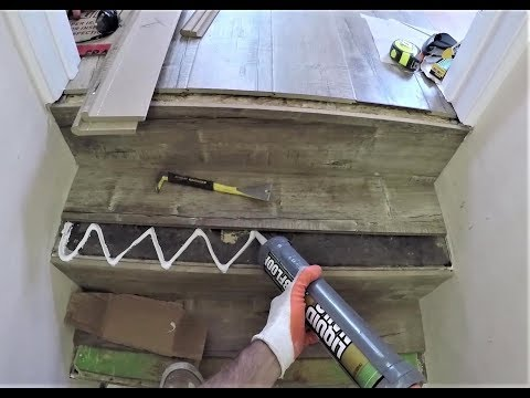 How to Laminate Stairs. Stair Noses. Step by Step Installation. DIY. Short. 101 with GoPro