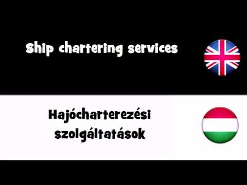 VOCABULARY IN 20 LANGUAGES = Ship chartering services