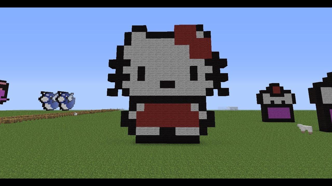 Good Minecraft Pixel Art Tutorial 10: Hello Kitty   YouTube