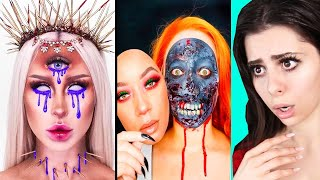 Insane Halloween Makeup Transformations !