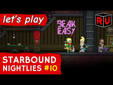 Starbound 1.0 preview: Hiring NPC crew members | Let's play Starbound nightly builds ep 10