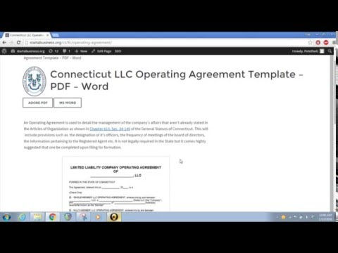Free Connecticut Llc Operating Agreement Template Pdf Word