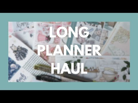 PLANNER HAUL // Stickers & Supplies!