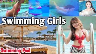 Best Video of Beautiful Girls Swimming || जलपरीहरु पानीमा पौडी खेल्दै || Swimming Poll