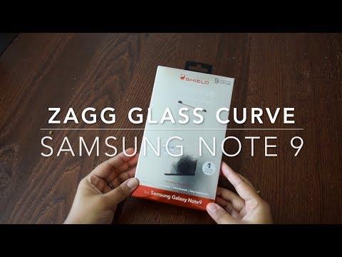 #Samsung Note 9 - #ZAGG Glass Curve Application