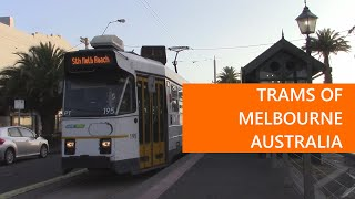 Trams of Melbourne Australia in 2020