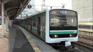 E501系普通列車水戸駅発車(発メロあり)ー10月7日ー