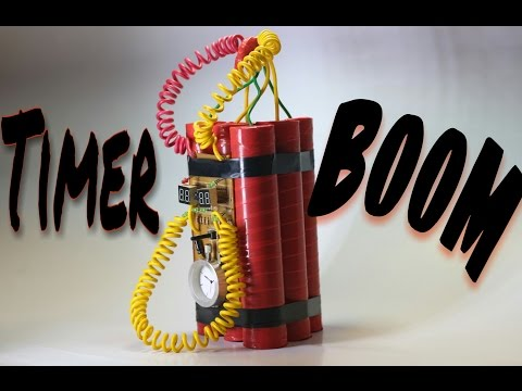 How to make a powerful timer Boom homemade DIY !