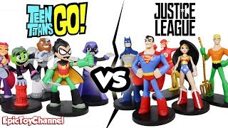 TEEN TITANS GO! vs Justice League Hero World by Funko a Teen Titans Go Video by Epic Toy Channel