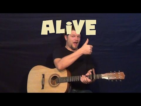 Alive (Krewella) Easy Guitar Lesson How To Play Tutorial