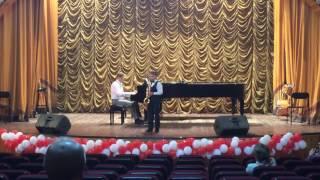 """Иван Байбородин, 8 лет, саксофон. Скотт Джоплин, """"Конферансье"""", (Артист эстрады, Регтайм)."""