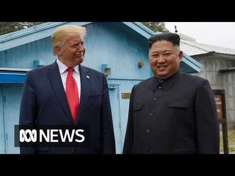 Donald Trump and North Korean leader Kim Jong-un meet at demilitarised zone | ABC News
