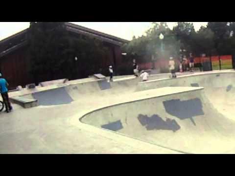 eric jensen and brian peck skate burgess skatepark in menlo park