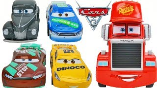 Disney Cars 3 Piston Cup Racers and Mack Race Hauler try out Story Sets Racetracks and Playsets!
