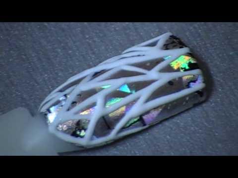 Видео Эффект битого стекла украшенные