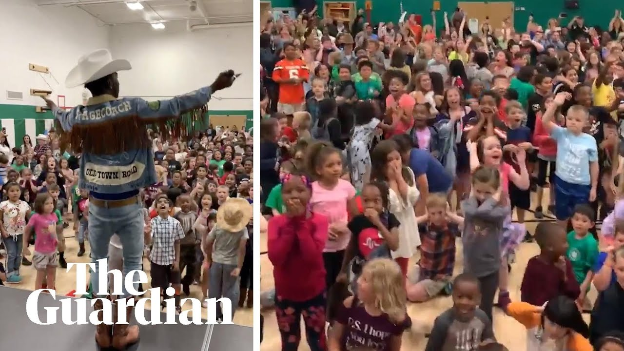 Lil Nas X gives surprise show to a bunch of schoolkids