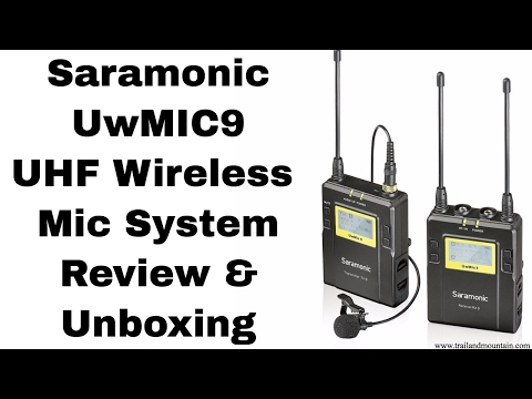 Saramonic UwMIC9 Wireless UHF Microphone Setup, Unboxing & R