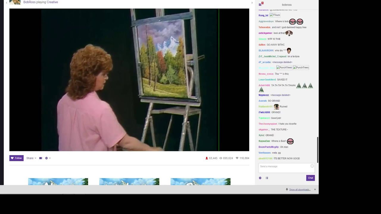 Bob Ross Twitch Stream (with Chat)  Youtube