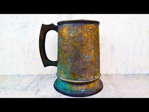 Antique Rusty Bronze Cup Restoration