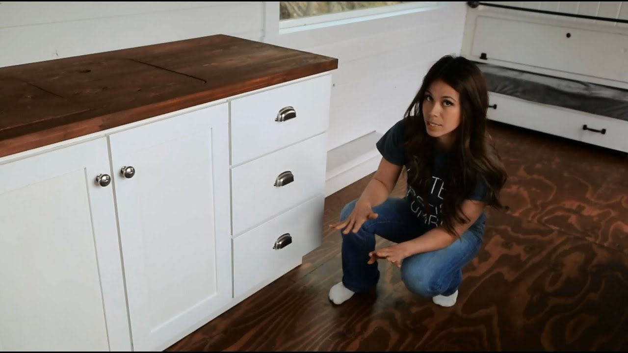 Building Kitchen Cabinets Video How To Make Kitchen Cabinets With Tiny House Kitchen Tour Ana White Tiny House Build Episode 14