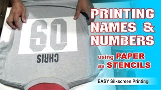 T-shirt Printing: Printing Names and Numbers using Paper as Stencils