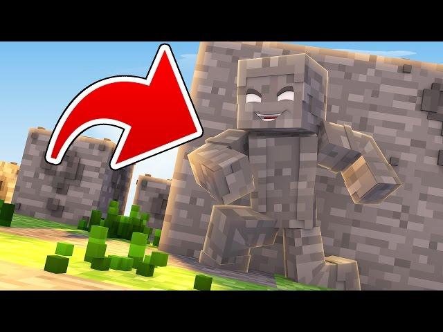 Minecraft: CUBÃO DISFARCE DE PEDRA !! - Lucky Block PVP